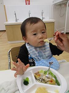 茨城県つむぎ保育園龍ヶ崎園 食育の日写真