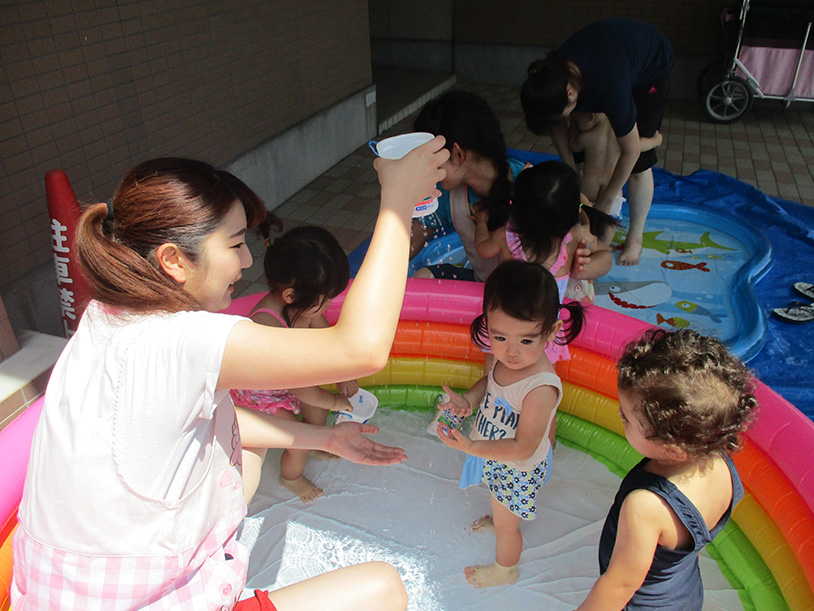 茨城県つむぎ保育園龍ヶ崎園 プール写真