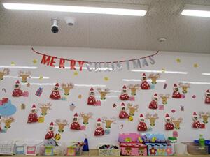 茨城県つむぎ保育園龍ヶ崎園 クリスマス飾り写真