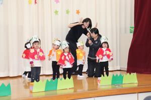 茨城県つむぎ保育園龍ヶ崎園 お遊戯会写真