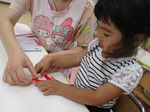 茨城県つむぎ保育園龍ヶ崎園 虫歯予防保育写真