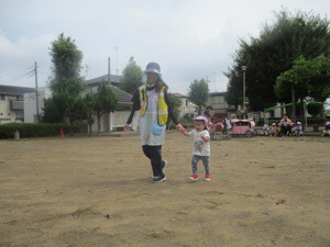 茨城県つむぎ保育園龍ヶ崎園 運動会練習写真