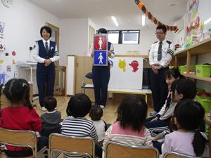 茨城県つむぎ保育園龍ヶ崎園 交通安全教室写真