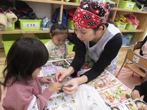 茨城県つむぎ保育園龍ヶ崎園 こどもと栄養士写真