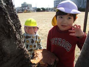 茨城県つむぎ保育園龍ヶ崎園 外遊びこども写真
