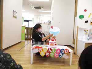 茨城県つむぎ保育園龍ヶ崎園 お誕生日会こども写真