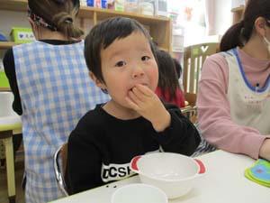 茨城県つむぎ保育園龍ヶ崎園  食育の日 こども写真