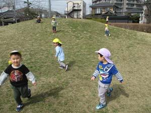 茨城県つむぎ保育園龍ヶ崎園 公園遊び写真