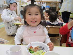 茨城県つむぎ保育園龍ヶ崎園 園児給食写真