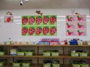 茨城県つむぎ保育園龍ヶ崎園 壁面制作写真