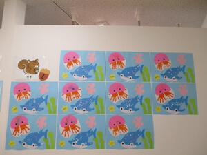 茨城県つむぎ保育園龍ヶ崎園 壁面 制作写真