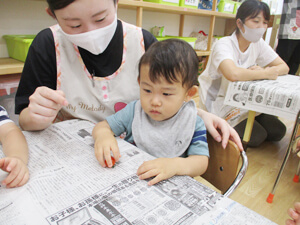 茨城県つむぎ保育園龍ヶ崎園 食育授業写真