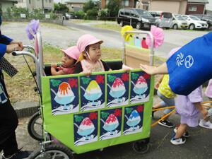 茨城県つむぎ保育園龍ヶ崎園 夏まつり山車こども写真