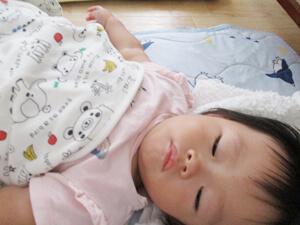 茨城県つむぎ保育園龍ヶ崎園 こども 午睡写真